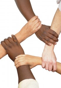 Hands Clasped In Unity