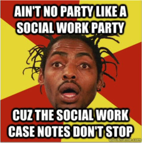 social worker party meme